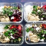 Mediterranean Rice Bowl Food Prep Meal