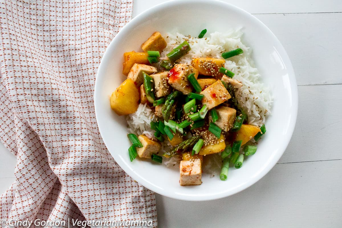 Sweet Thai Chili Tofu Bowl