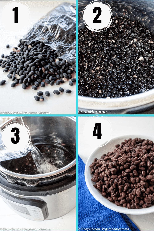 pressure cooker black bean collage
