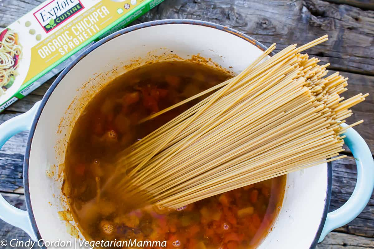 One Pot Taco Spaghetti