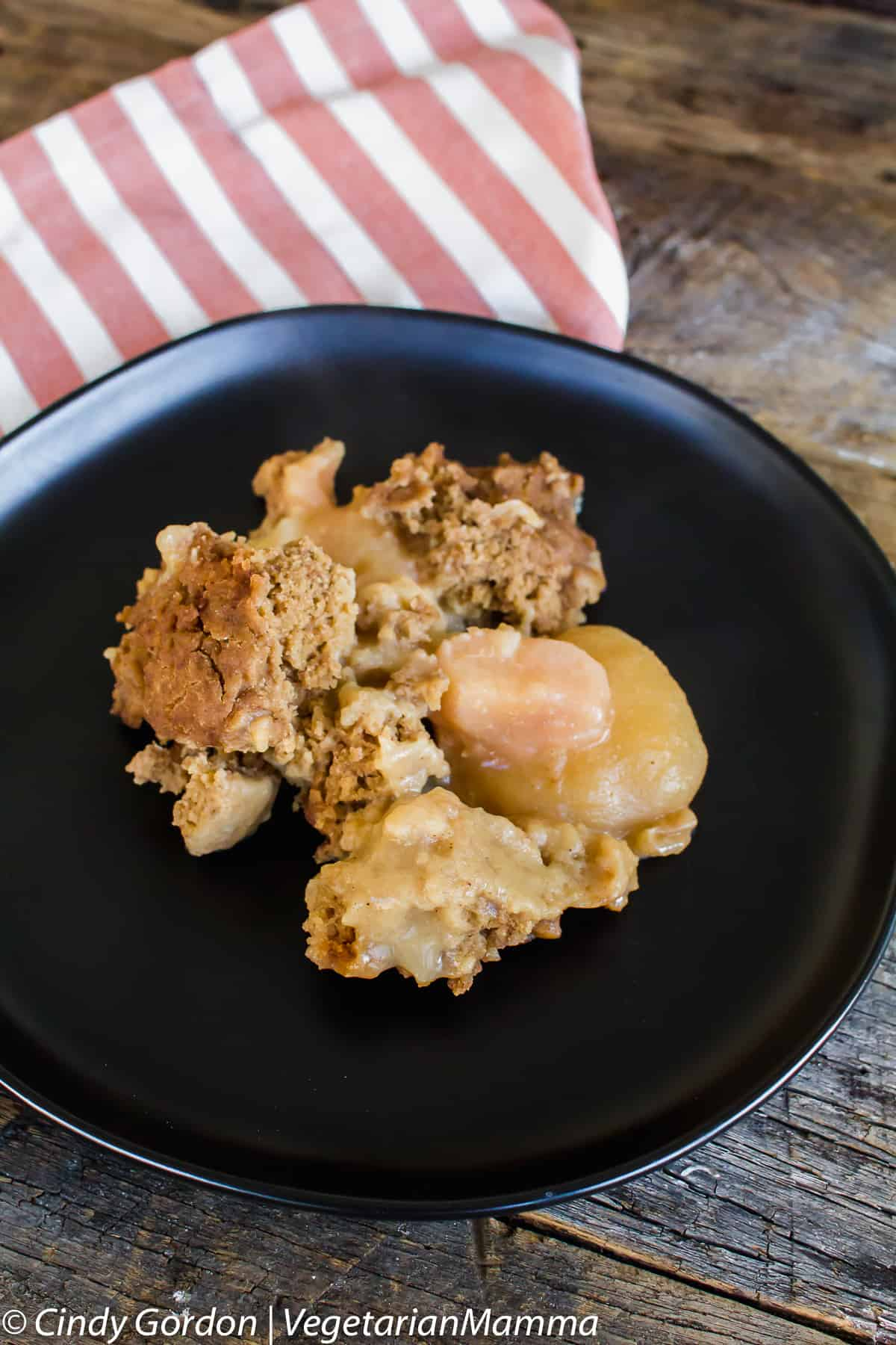 Allergy Friendly Slow Cooker Pear Cobbler