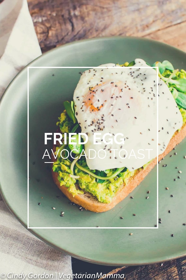 Fried Egg Avocado Toast is a great gluten free lunch