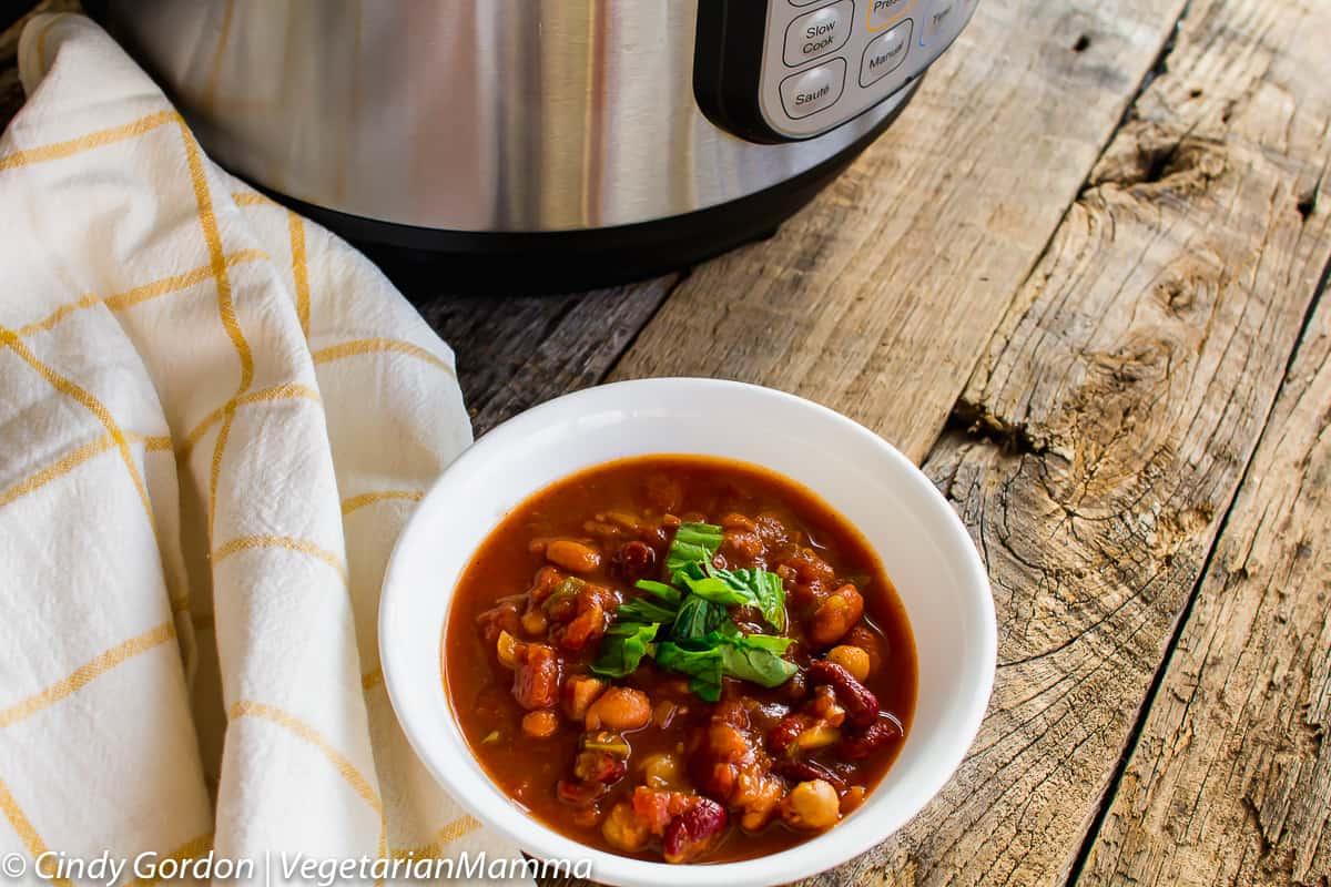 Instant Pot Four Bean Chili