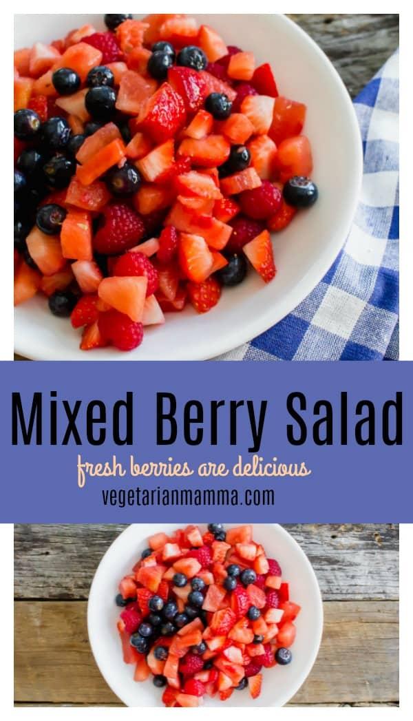 mixed berry fruit salad