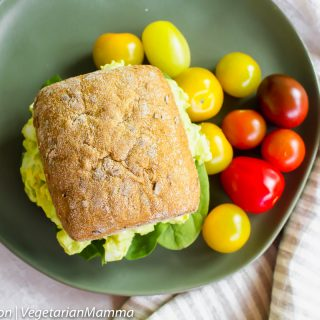 Easy and delicious avocado egg salad sandwiches, which are perfect for any lunch!