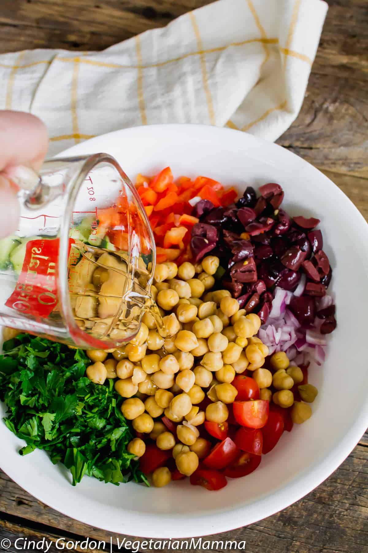 Chickpea Quinoa Salad provides a pop of color and taste to your dinner table!