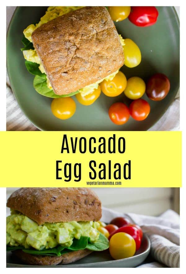 Avocado Egg Salad sandwiches are ready in a snap for lunchtime happiness.