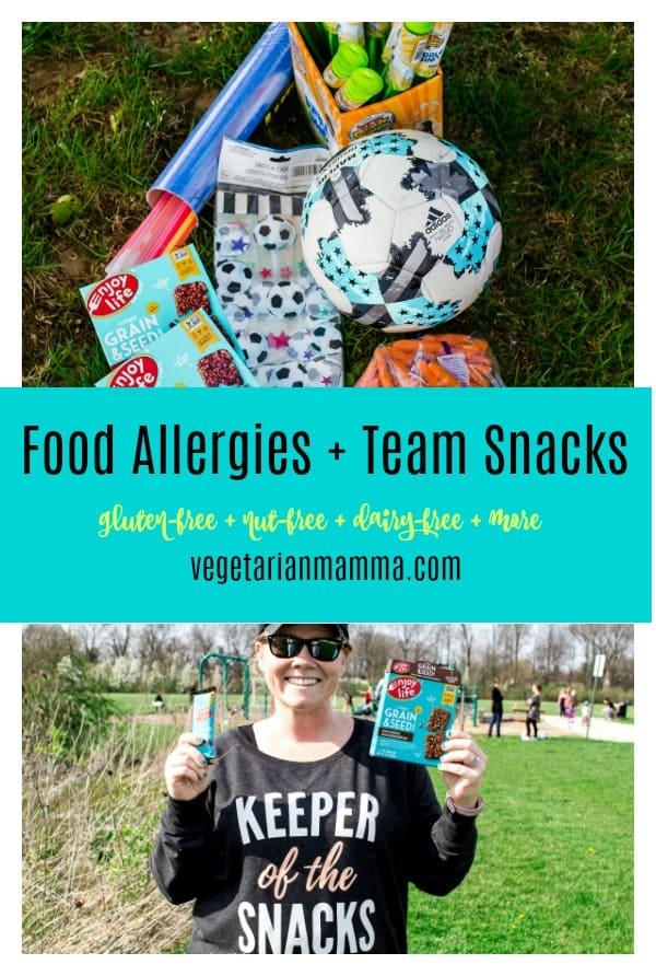food allergies and team snacks