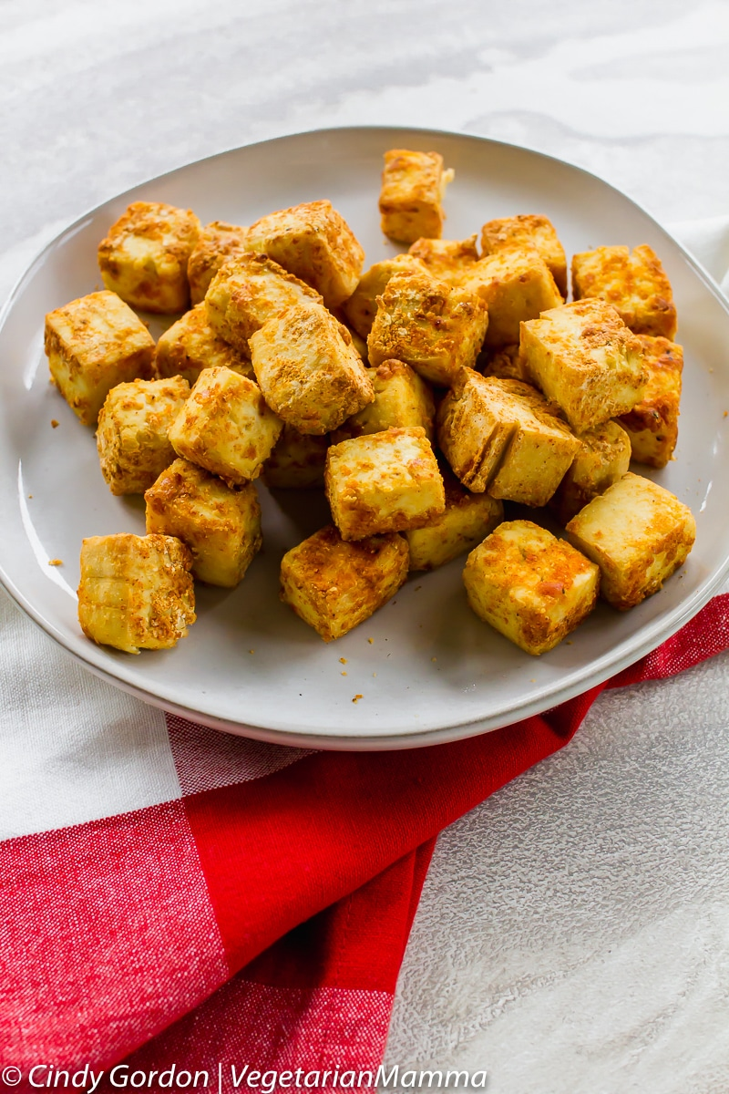 Crispy Air Fryer Tofu is a quick an easy air fryer recipe!