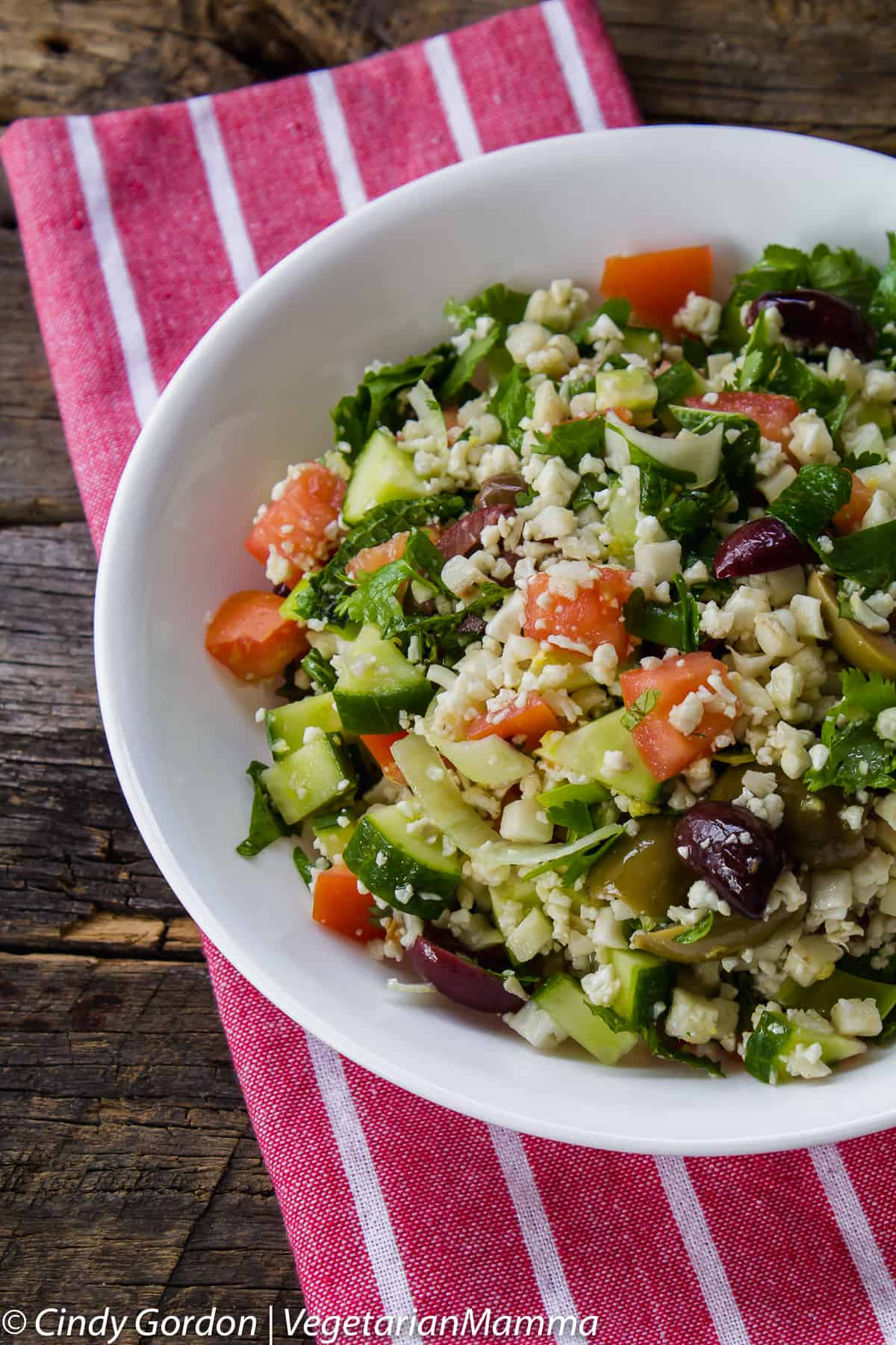 Cauliflower Tabbouleh is a stunning dish to compliment your next meal.