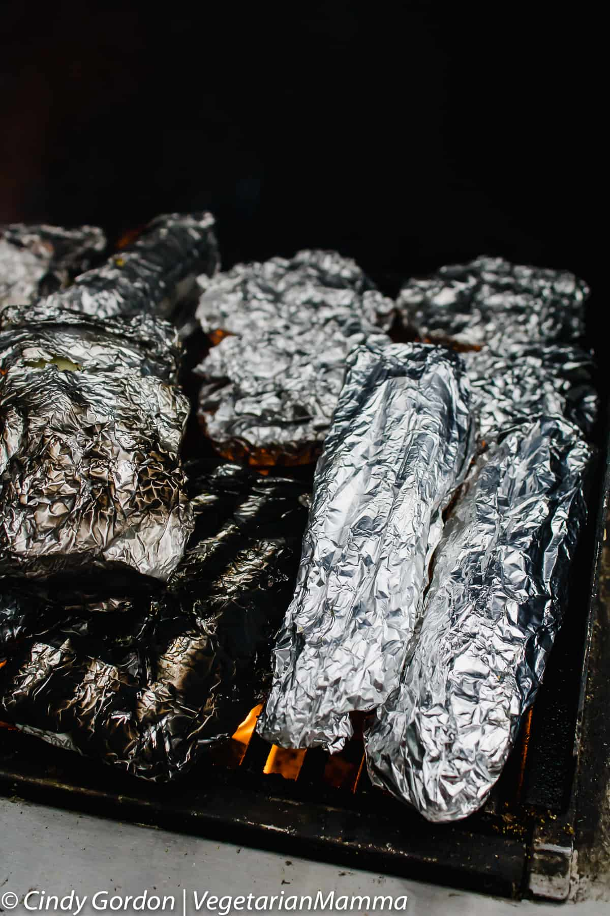 Use foil to help cut cross contamination risk during a gluten free BBQ.