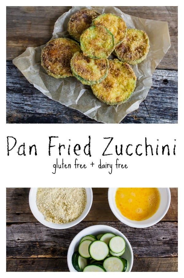 Gluten Free Pan Fried Zucchini is an easy side dish!