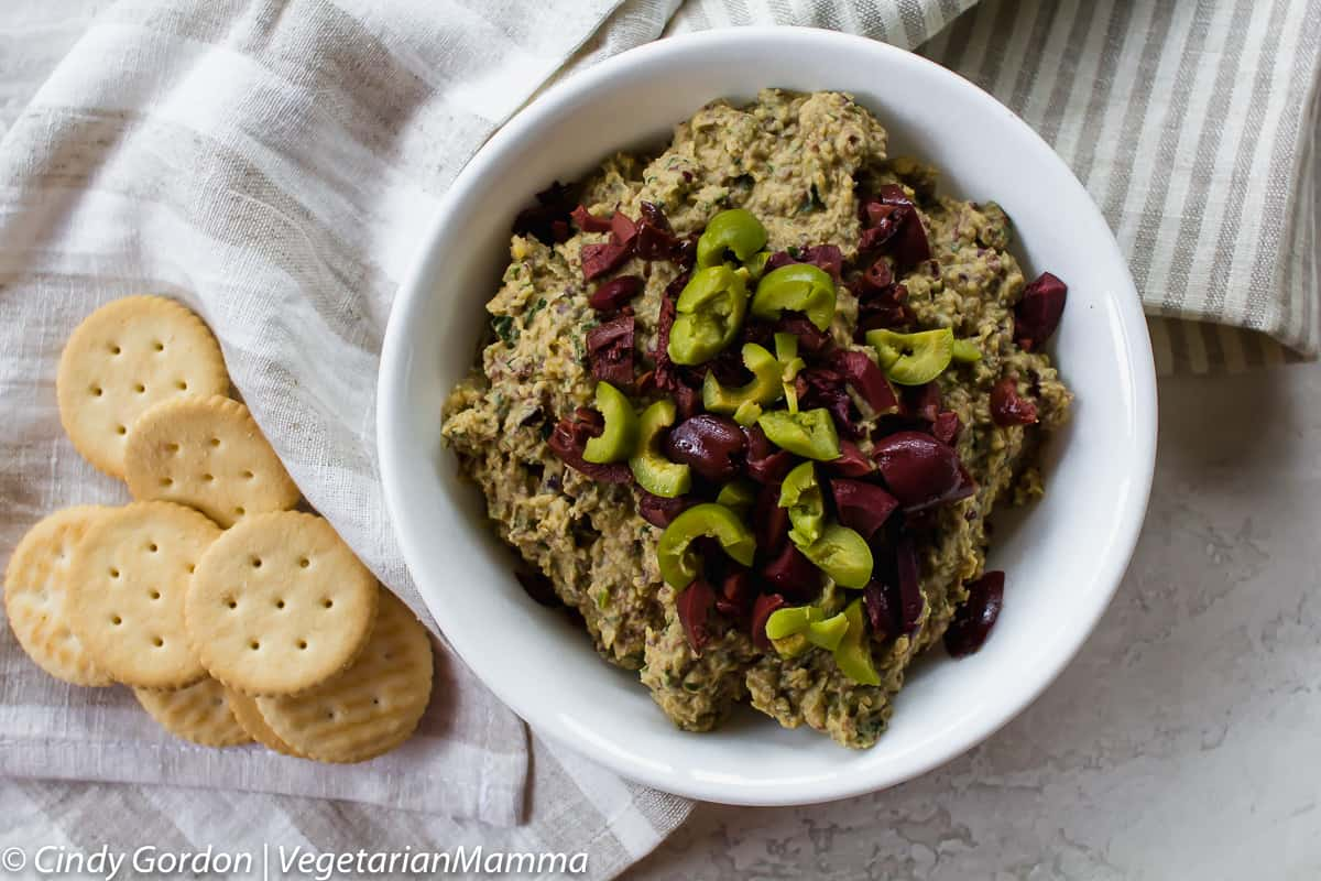 Simple olive tapenade is the perfect combination of salty and savory!