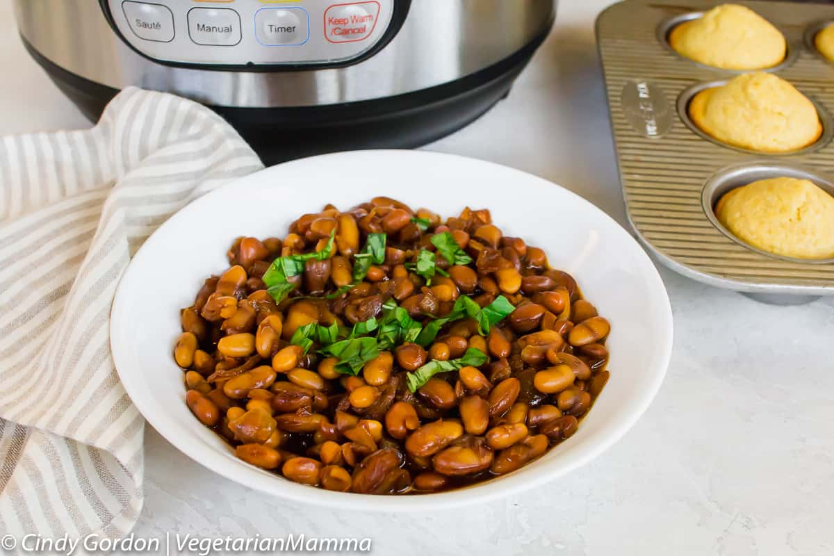 Instant Pot Baked Beans can be made from canned beans.