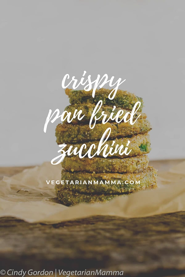 pan fried zucchini chips with text overlay