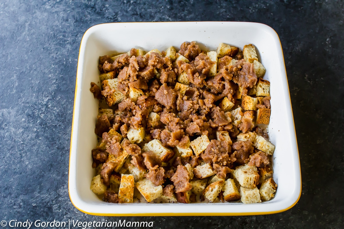 Cinnamon roll french toast casserole unbaked.