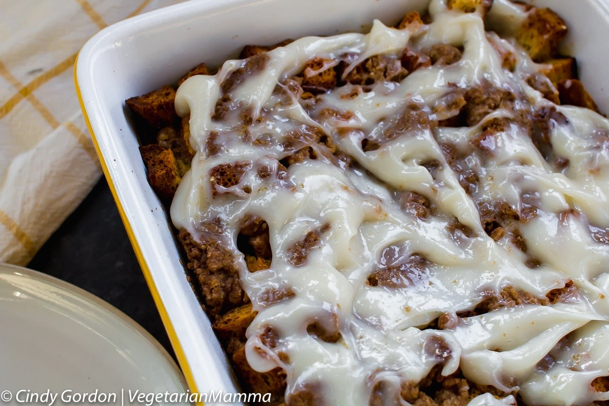 Hungry for cinnamon roll french toast casserole