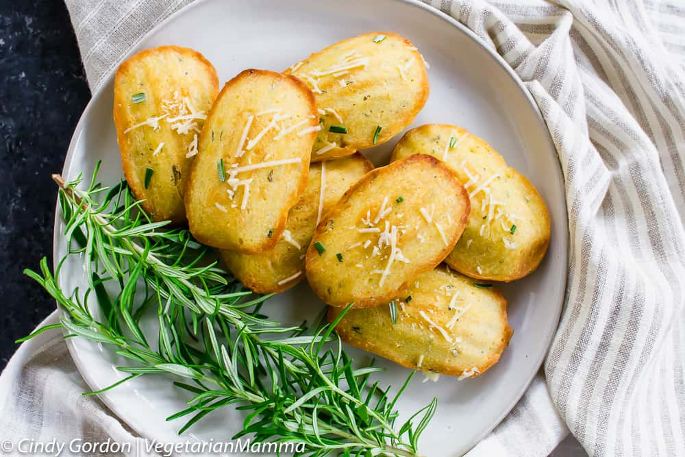 Gluten Free Madeleines with rosemary and parmesan