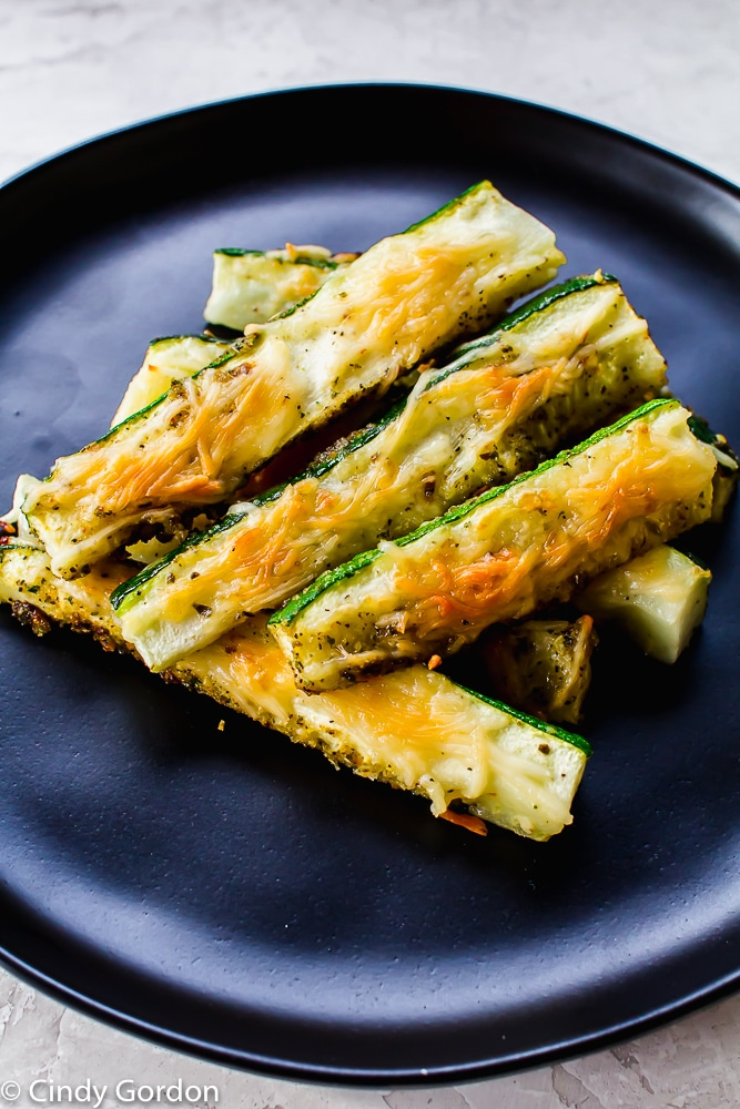 Parmesan Zucchini Fries are naturally glutenfree and vegetarian.