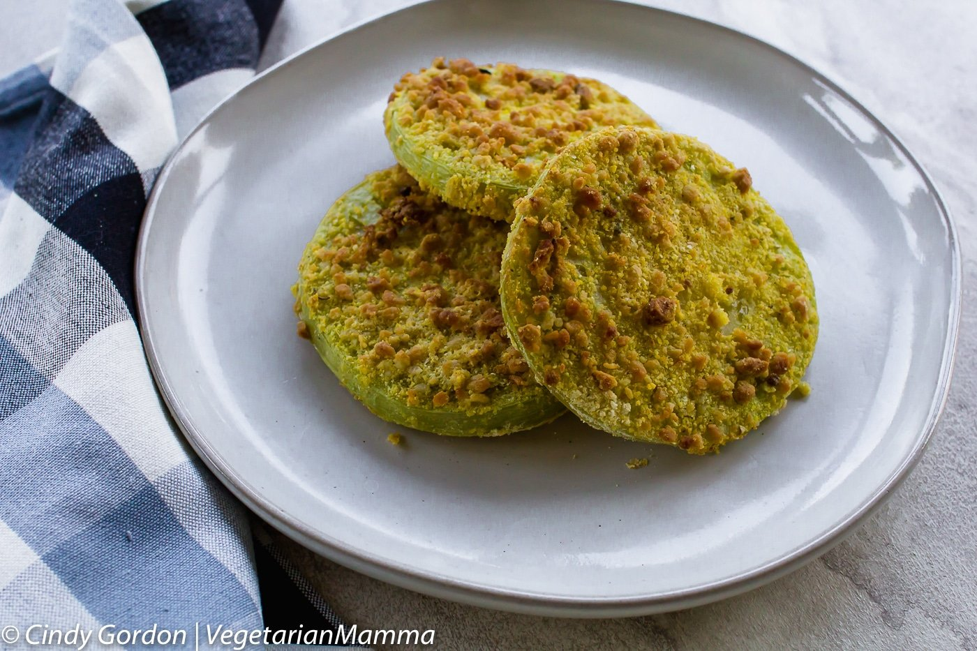 Air Fryer Fried Green Tomatoes is a gluten free treat straight from your garden.