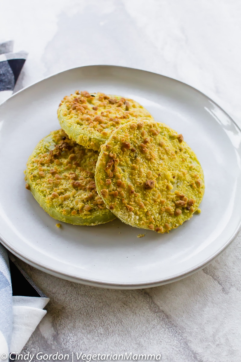 Air Fryer Fried Green Tomatoes are gluten free.