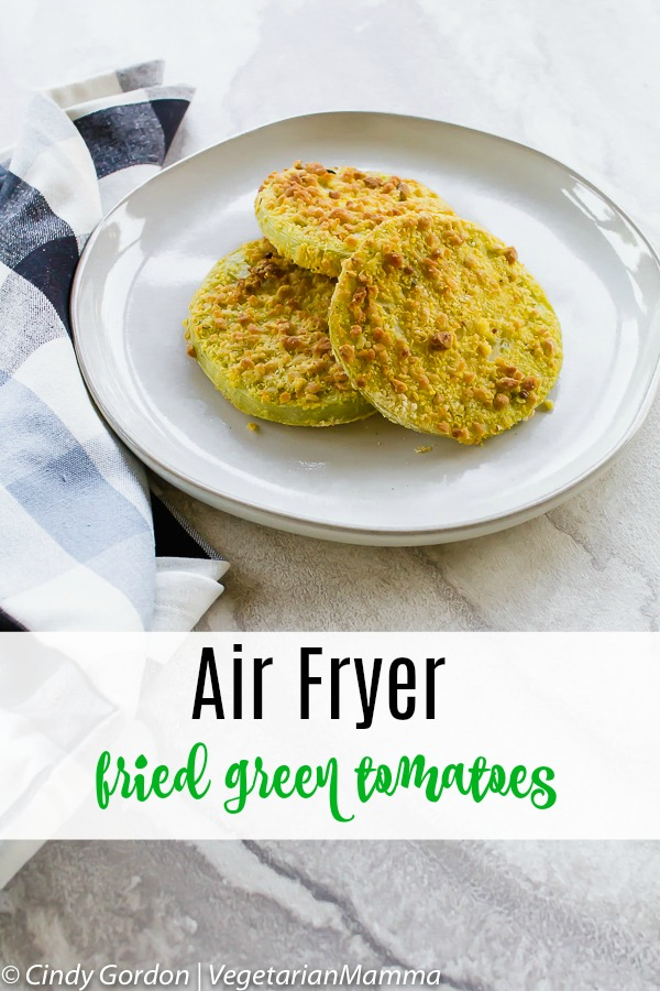 Air Fryer Fried Green Tomatoes is the most delicious air fryer recipe you'll find today! If you are looking for air fryer recipes, this is a winner!