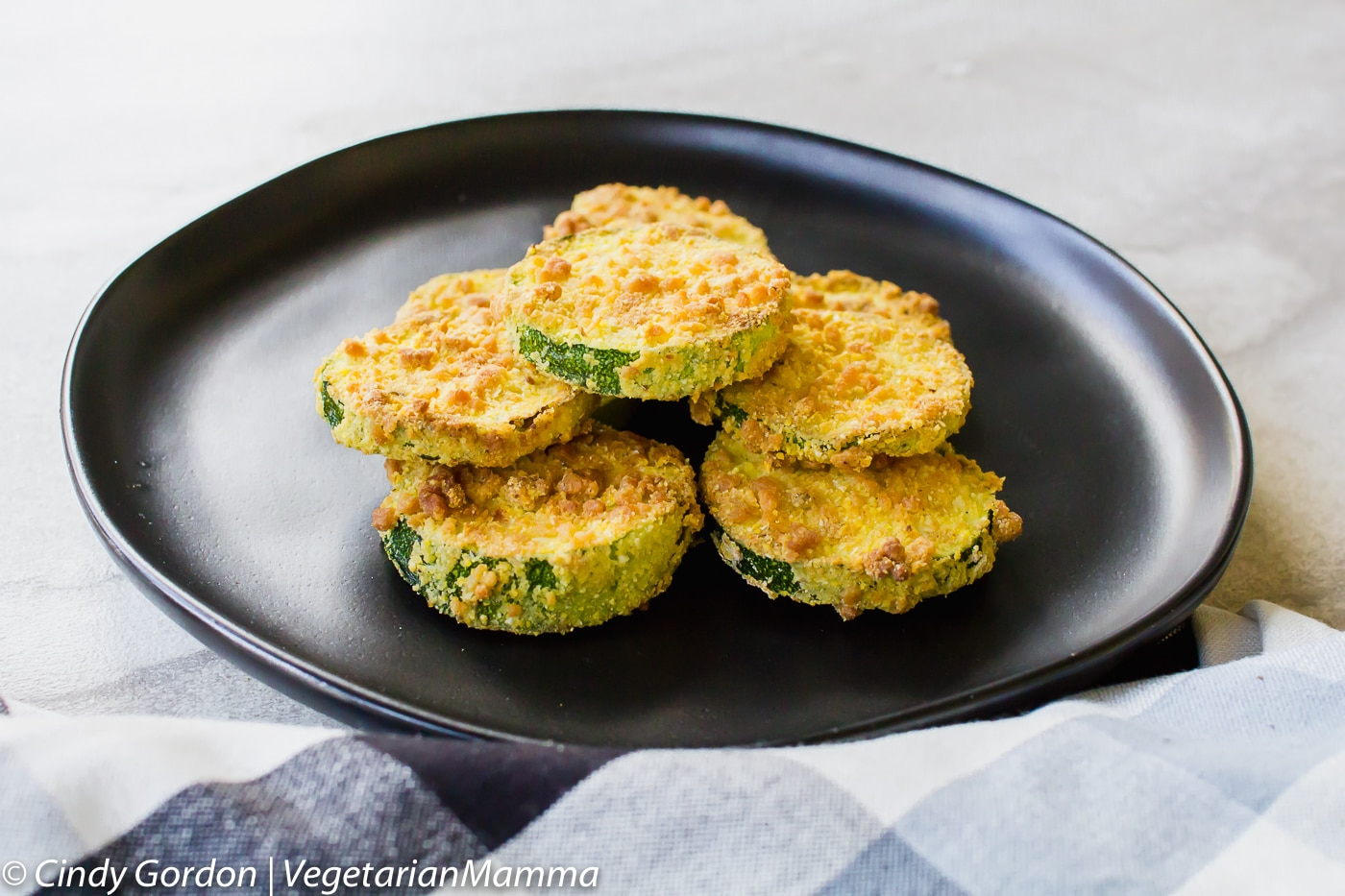 Air Fryer Zucchini Coins are vegetarian and quick to make.