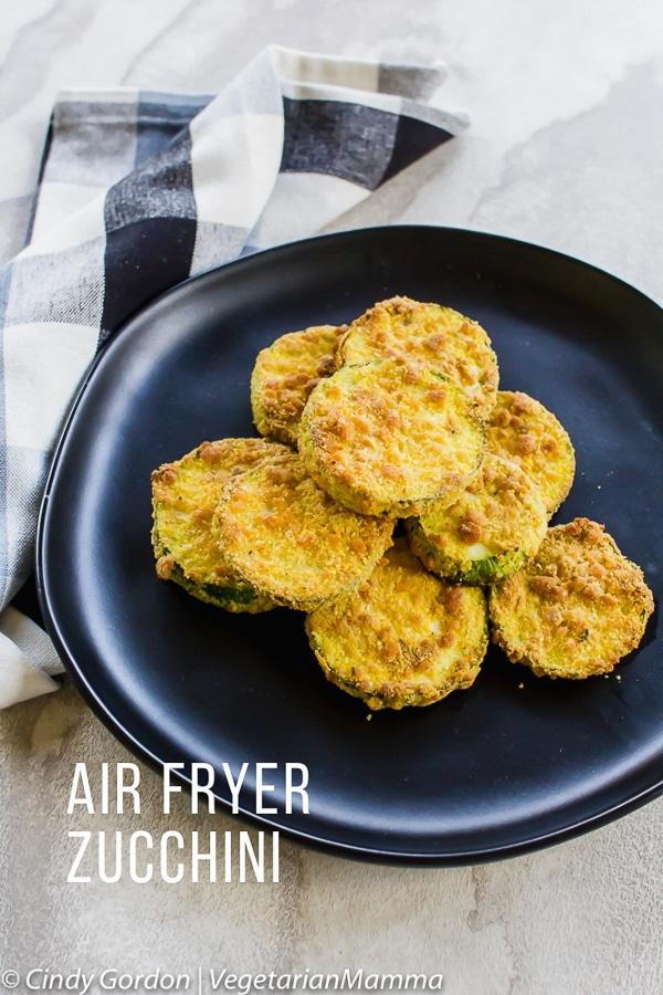 Air Fryer Zucchini coins