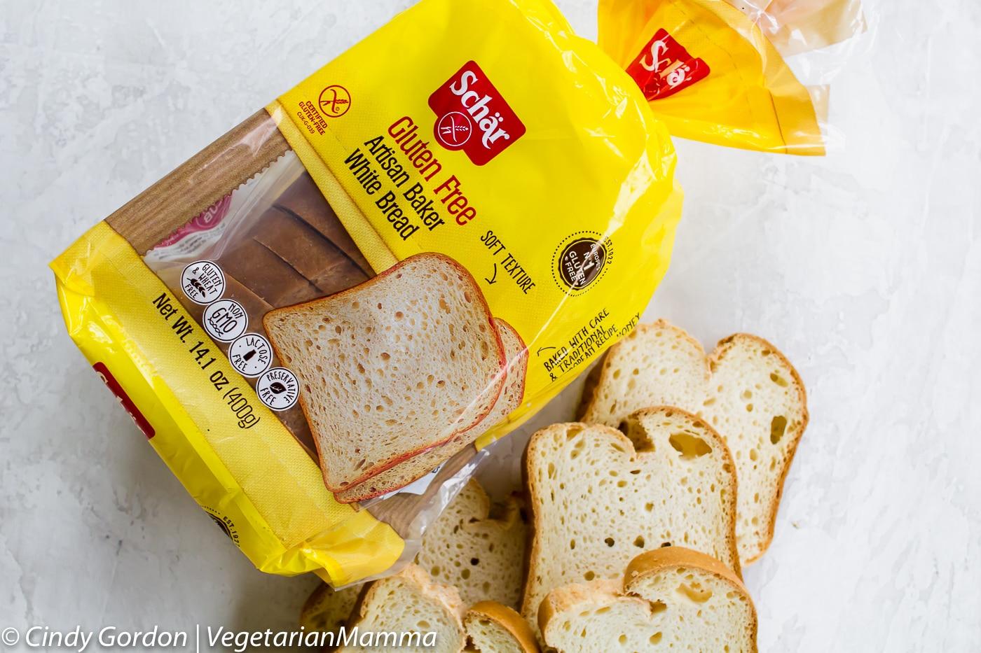 Easy Bruschetta Toast uses Schar gluten free bread.