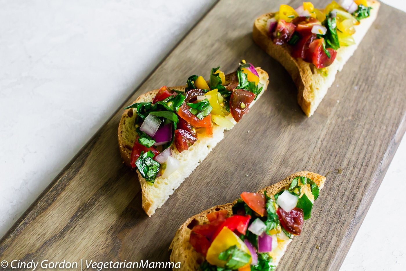 Easy Bruschetta Toast is ready in less than 15 minutes.