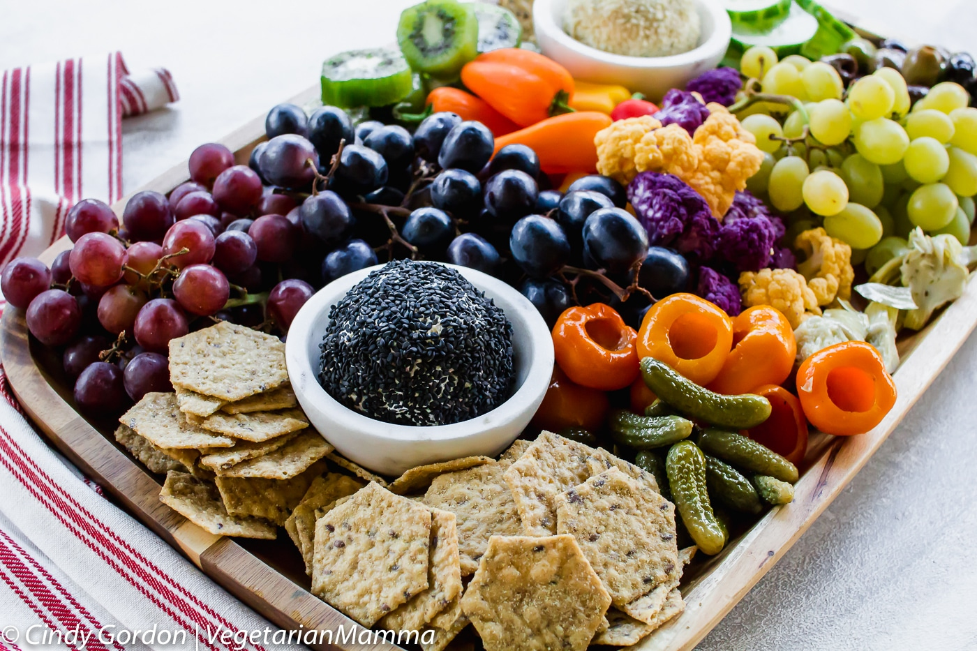 Vegetarian Charcuterie board has something for everybody!