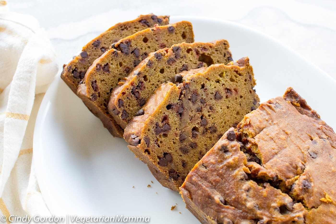 Gluten Free Chocolate Chip Pumpkin Bread is nut free.