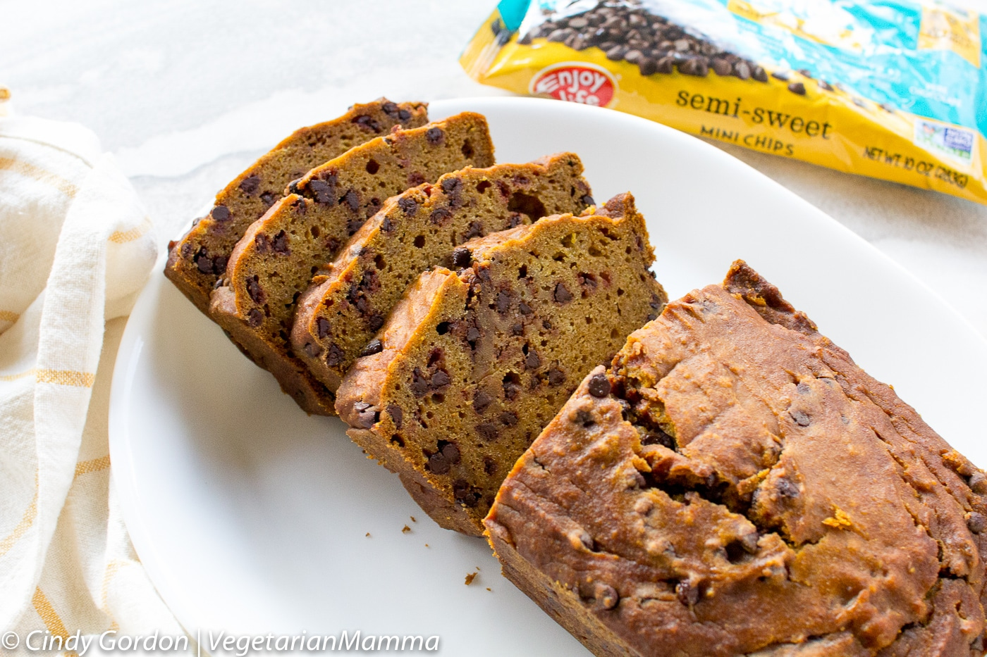 Gluten Free Chocolate Chip Pumpkin Bread is delicious and easy to make.