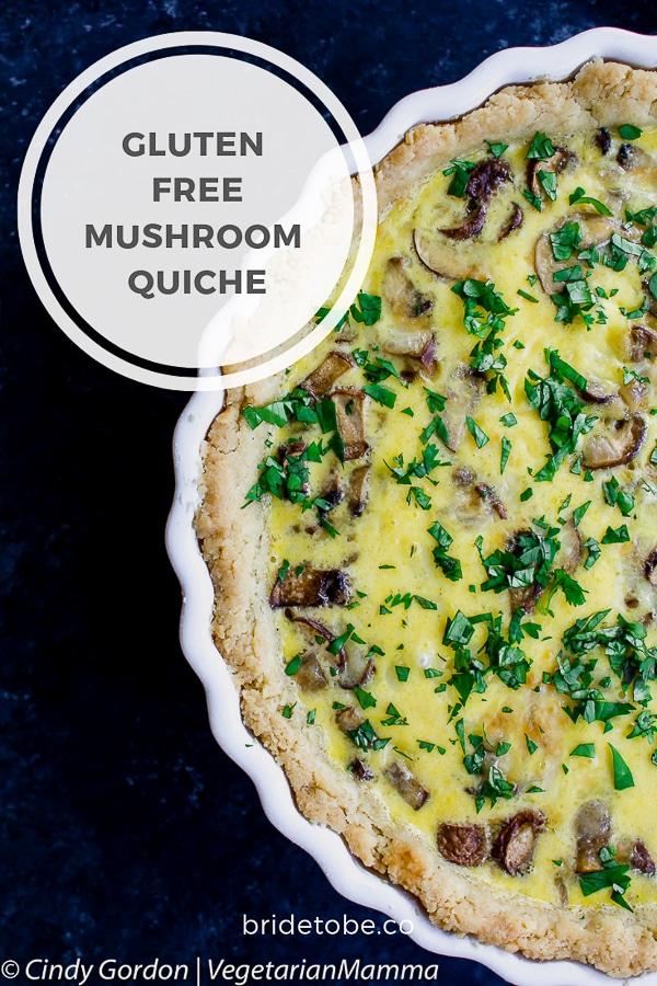 Gluten Free Mushroom Quiche