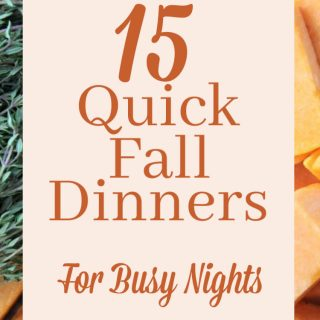 Quick Fall Dinners for Busy Nights