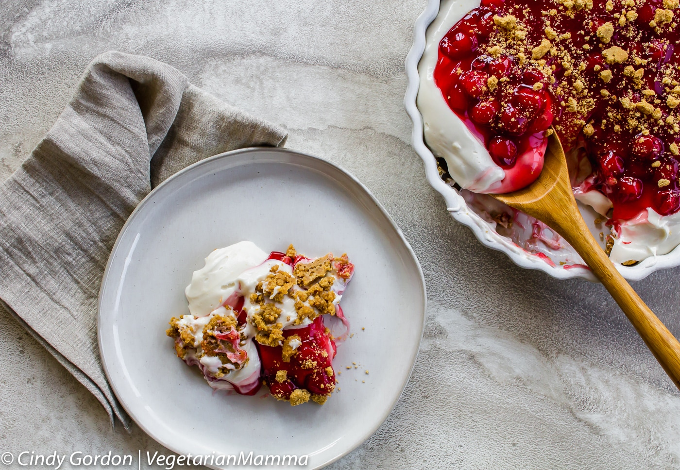 Simple Cherry Cheesecake Dessert is a dessert fluff!