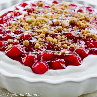Simple Cherry Cheesecake Dessert is dairy free and gluten free