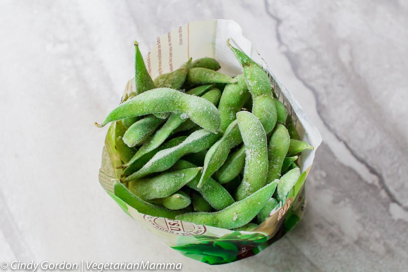 bag of frozen edamame