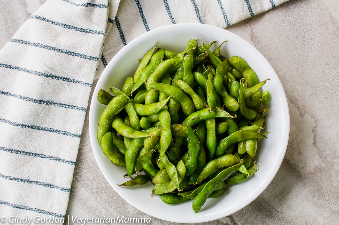 Air Fryer Edamame is a delicious air fryer recipe that is vegetarian.