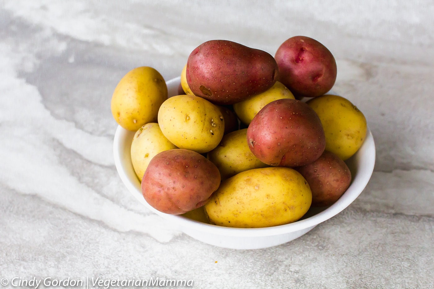 Air Fryer Roasted Potatoes - potatoes in a bowl