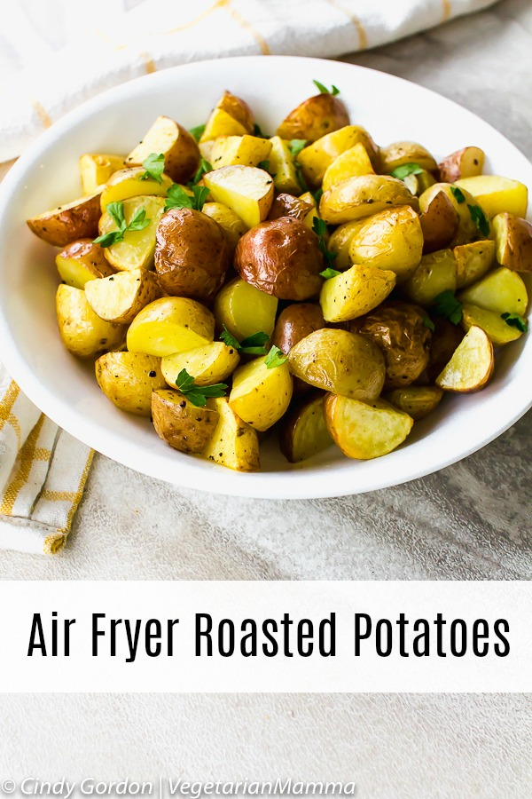 Air Fryer Roasted Potatoes pin 2
