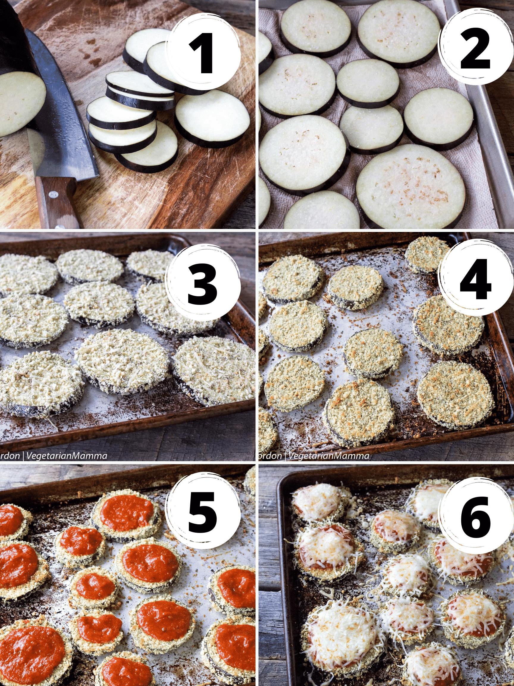 eggplant parmesan collage