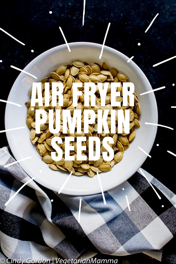 Air Fryer Pumpkin Seeds are a gluten free snack.
