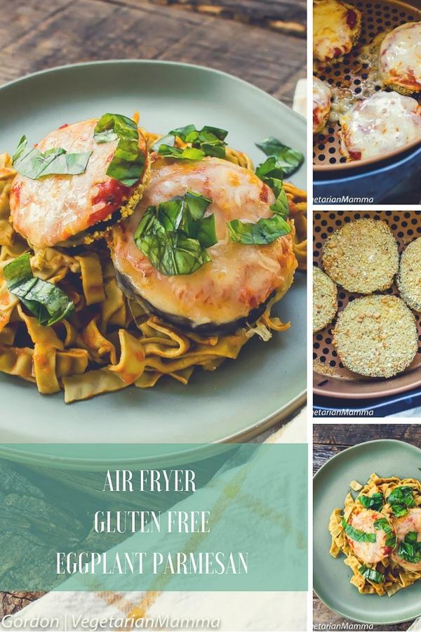 Air Fryer Gluten Free Eggplant Parmesan pin