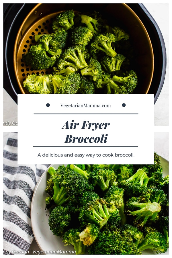 Air Fryer Broccoli is a delicious and easy to make air fryer recipe. You will fall in love all over again with this air fried broccoli! #airfryer #broccoli