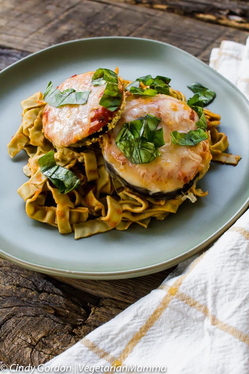 Air Fryer Gluten Free Eggplant Parmesan is also vegetarian.