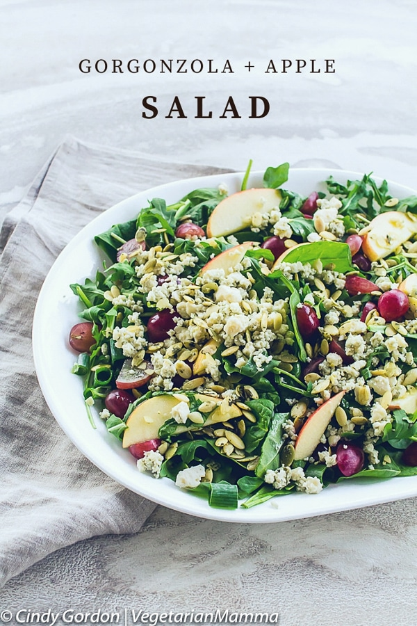 Gorgonzola Cheese and Apple Salad pin