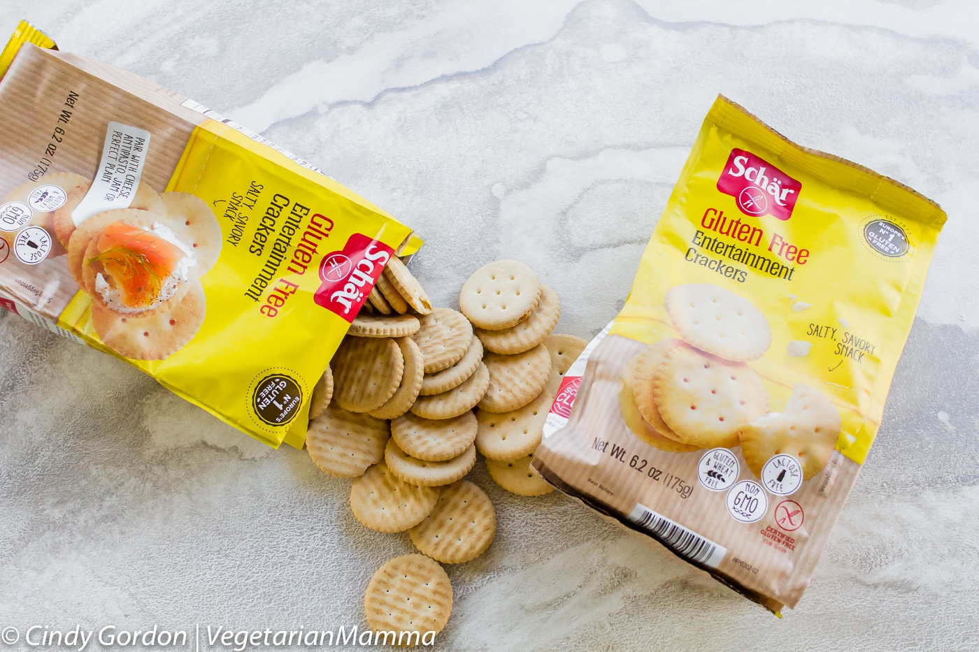 Homemade Gluten Free Tagalong Cookies uses Schar Entertainment Crackers