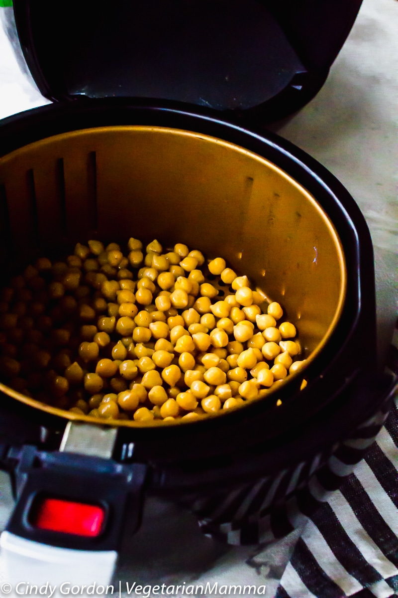 air fried chickpeas in a power fryer xl