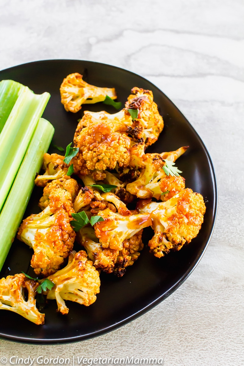 Air Fryer Honey Sriracha Cauliflower is a delicious air fryer recipe